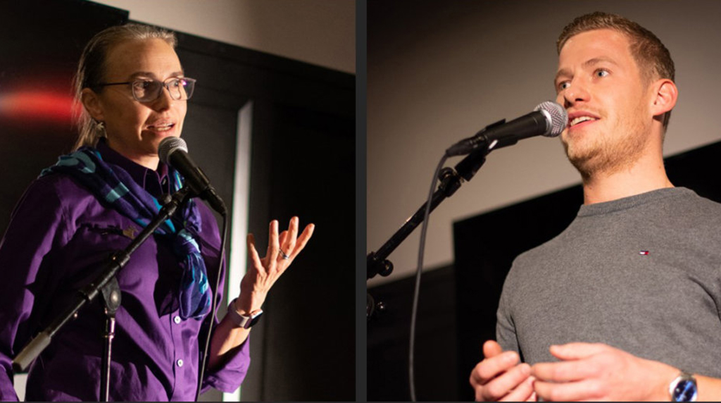 Samantha Joye and Simeon Pesch Tell Their Science Stories at Story Collider Event