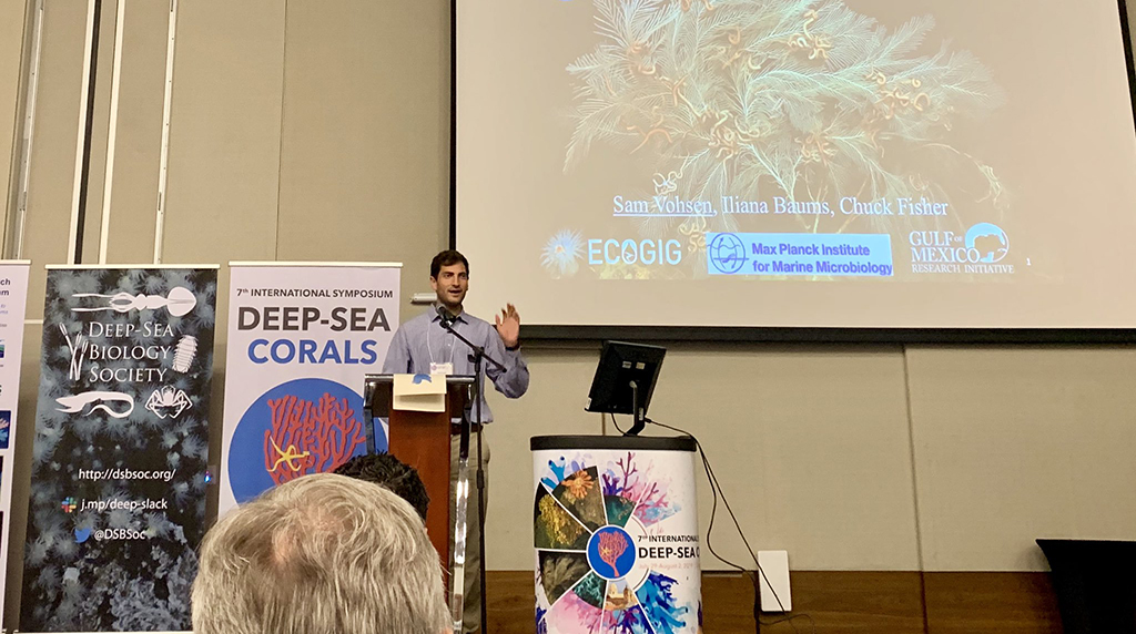 ECOGIG Graduate Student Gives Keynote Speech at Symposium