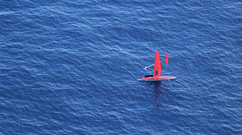 ECOGIG researchers observe and detect oil slicks in the Gulf of Mexico using SailDrone