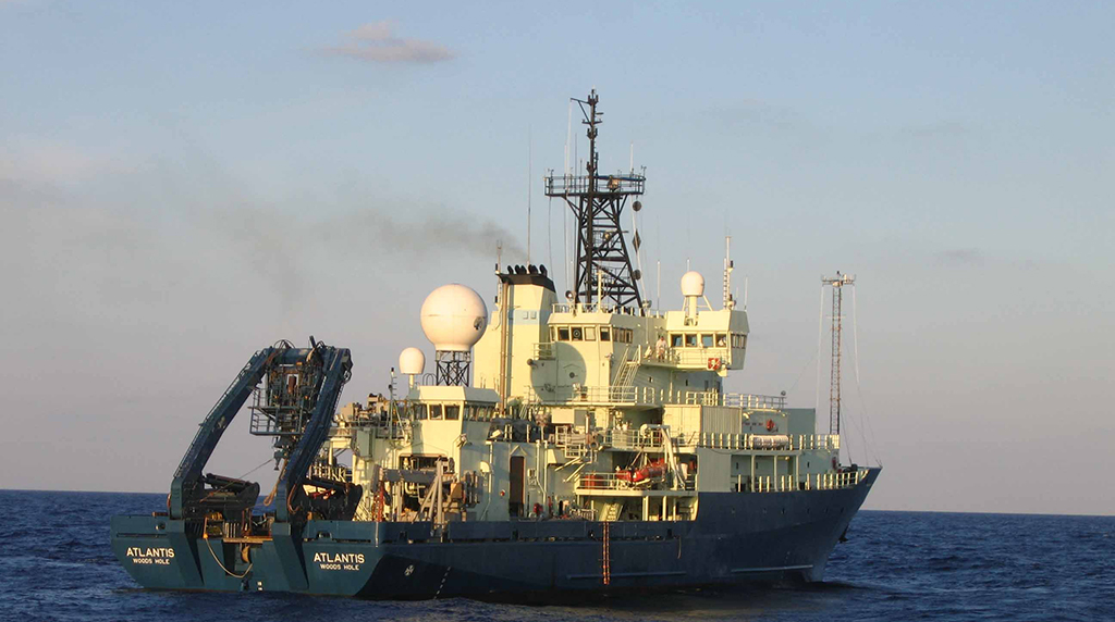 <div style='color:#000000;'><br /><br /><h2>R/V Atlantis- Operated by the Woods Hole Oceanographic Institution as part of the University-National Oceanographic Laboratory System (UNOLS) fleet.</h2>Photo courtesy of ECOGIG</div>