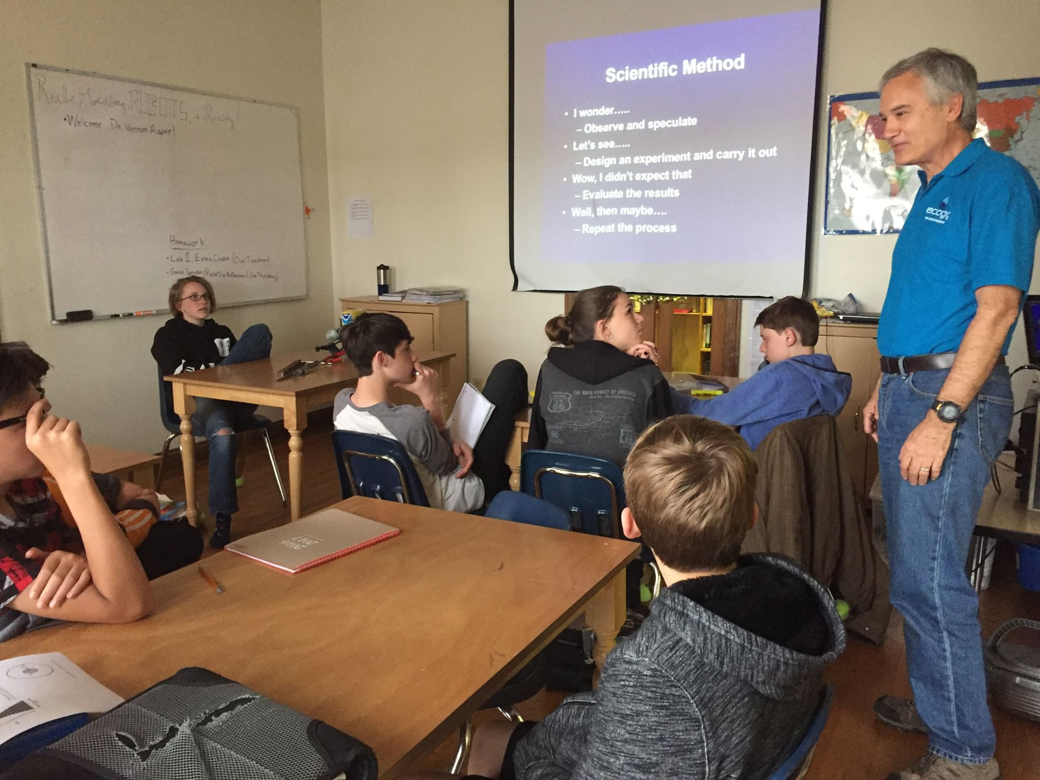 <div style='color:#000000;'><br /><br /><h2>2017 Nature's Way Montessori. ECOGIG PI Dr. Vernon Asper shared his knowledge about oceans, density & circulation with Nature's Way Montessori middle school students. Photo courtesy of Vernon Asper.</h2></div>