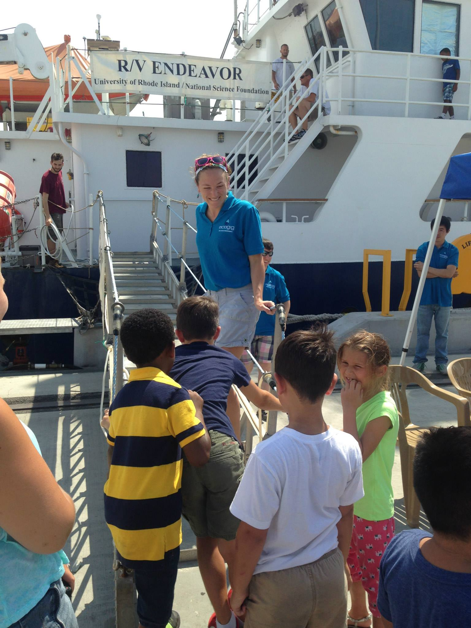 <div style='color:#000000;'><br /><br /><h2>2015 World Oceans Day. Boys and Girls club kids tour the R/V Endeavor.</h2>(C)&nbsp;ECOGIG</div>