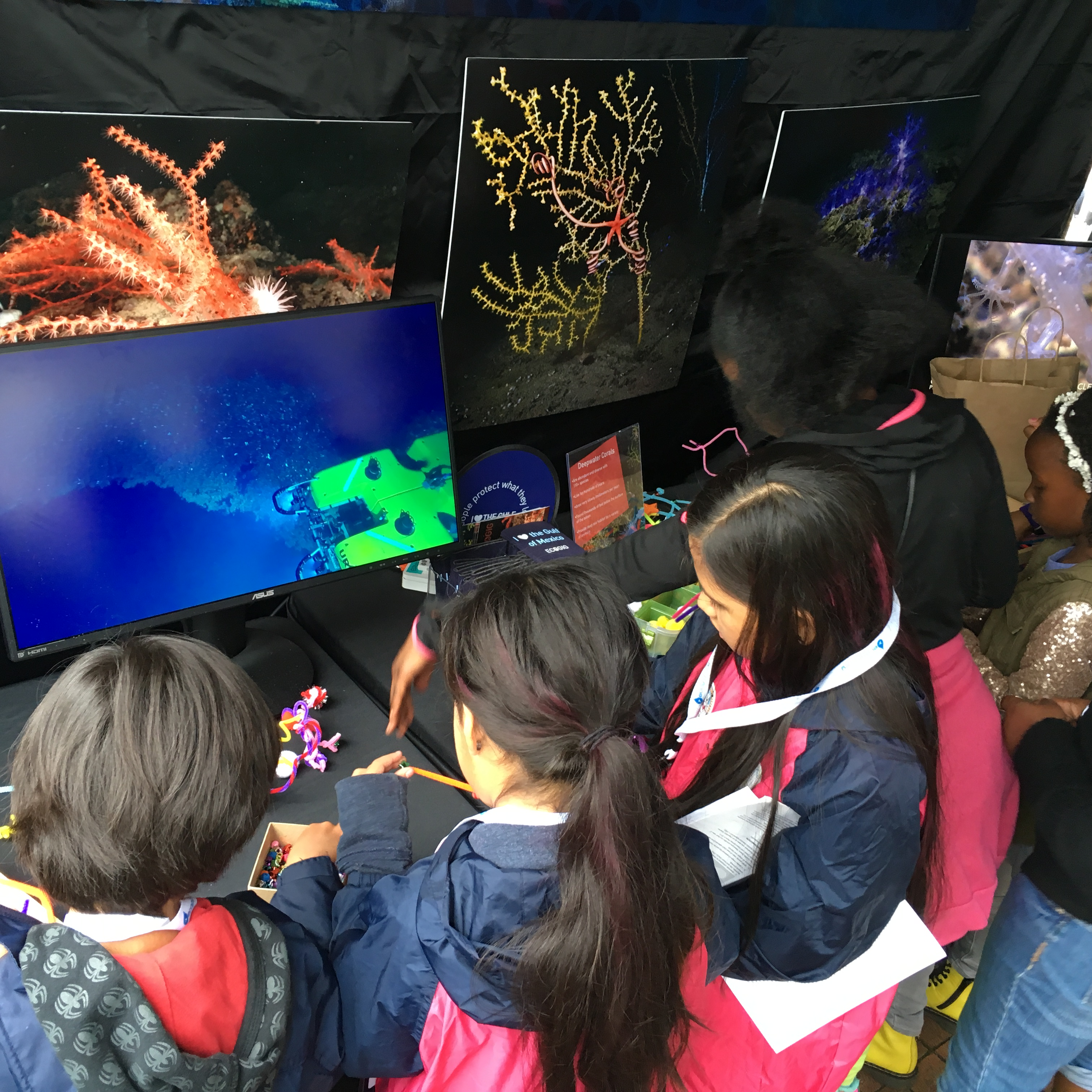 <div style='color:#000000;'><br /><br /><h2>Atlanta Science Festival 2016. Visitors build and learn more about deep sea corals</h2>(C)&nbsp;ECOGIG</div>