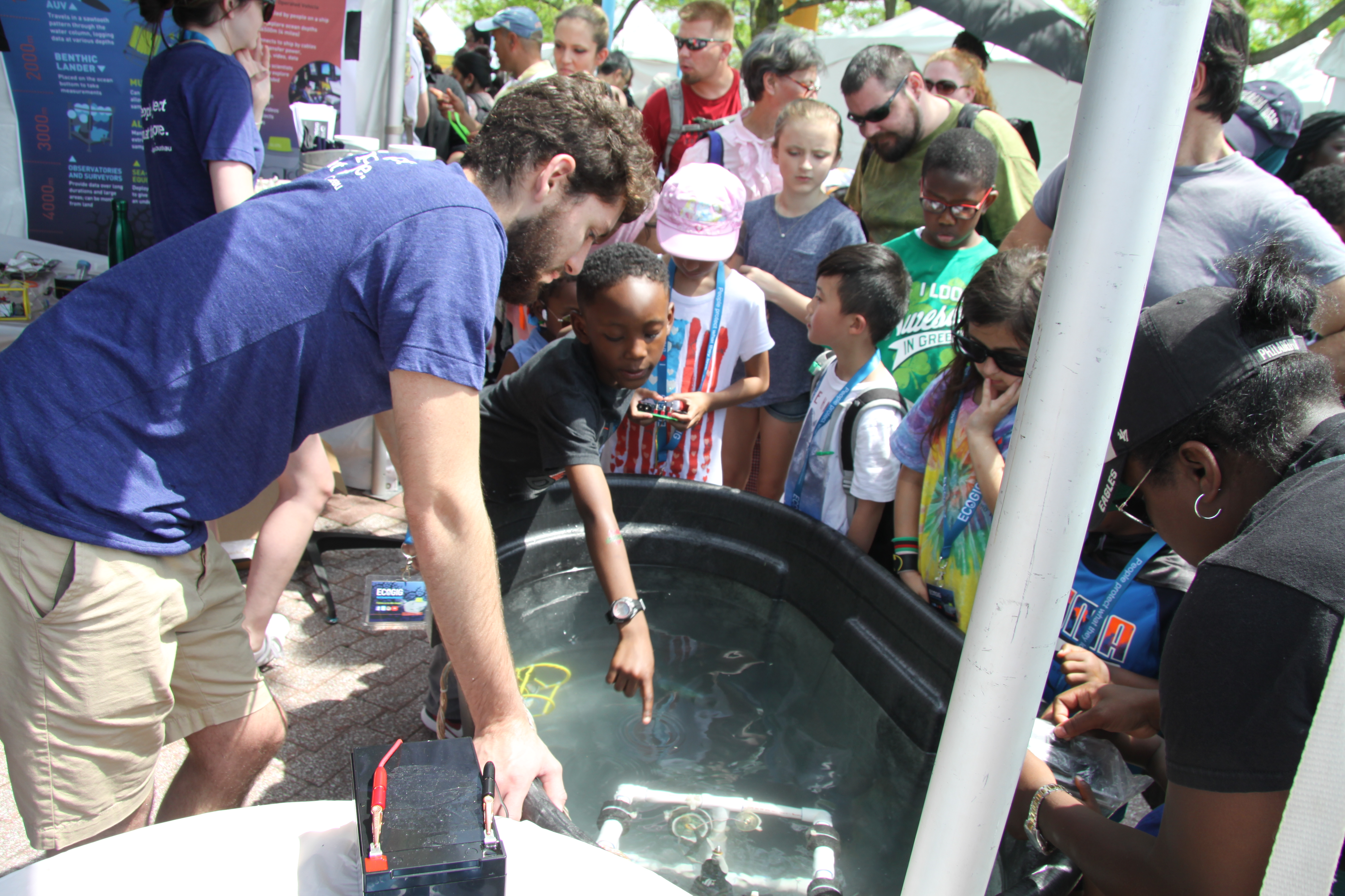 <div style='color:#000000;'><br /><br /><h2>2017 Philadelphia Science Carnival. ECOGIG researchers from Temple University took the Ocean Discovery Zone to the Philadelphia Science Carnival to share the wonders of the ocean and their research on deep sea corals with science interested visitors!</h2>Photos courtesy of Alexis Weinnig (ECOGIG).</div>
