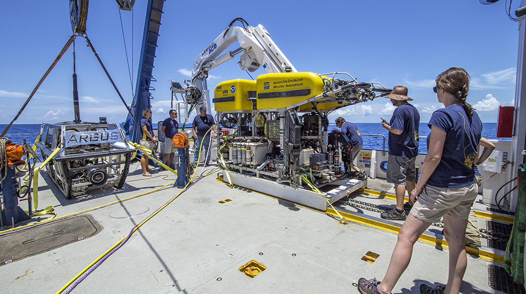 <div style='color:#000000;'><br /><br /><h2>ROV Hercules and ROV Argus, together on board the E/V Nautilus.</h2>Photo courtesy of Ocean Exploration Trust</div>