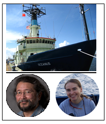 Dr. Mandy Joye and Dr. Joseph Montoya - The R/V Oceanus cruise